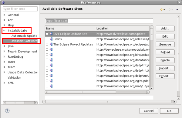36 32 How do I disable Eclipse Software Sites?