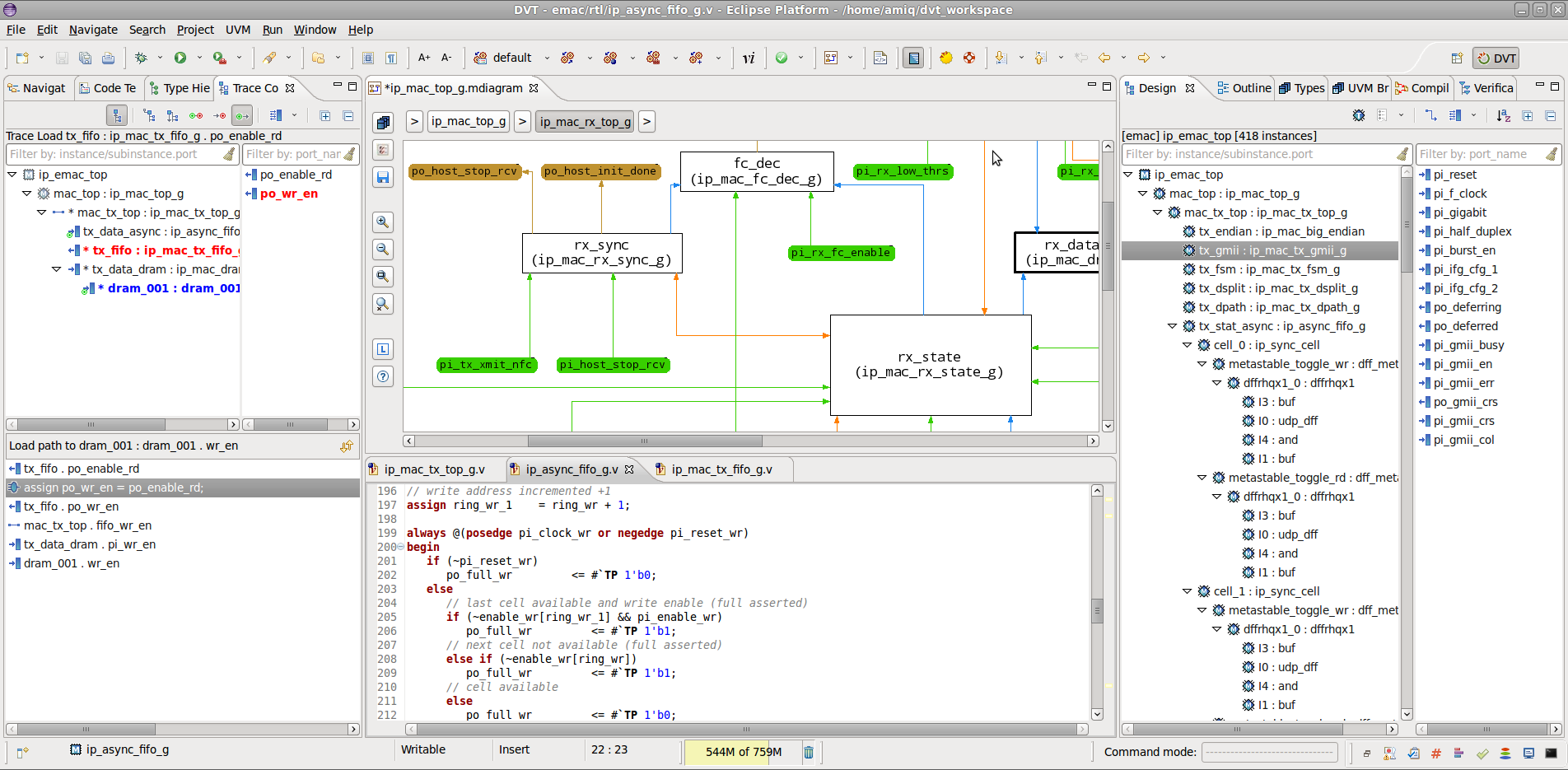 Explore a Design with DVT Eclipse IDE